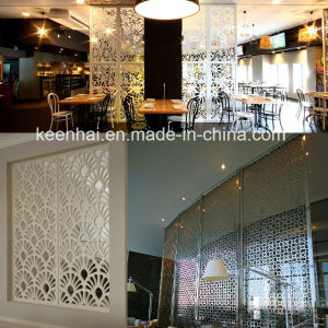 Hotel Restaurant Docorative Laser Cut Perforated Metal Aluminum Wall Partition Panels pictures & photos
