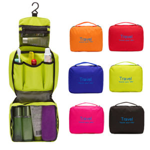 Waterproof Nylon Travelling Hook Toiletry Cosmetic Makeup Bag (MS7027) pictures & photos