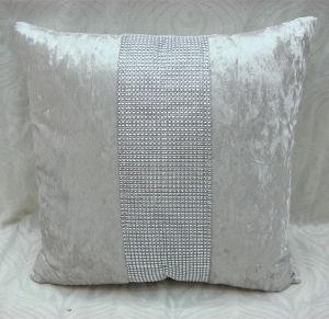 Fashion Ice Velvet Rhineston Cushion (DIV02-004) pictures & photos