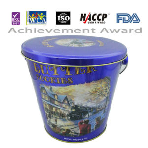 500g Butter Cookie in Blue Bucket Tin