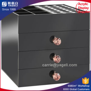 China Supplier Black Acrylic 3 Drawers Organizer pictures & photos