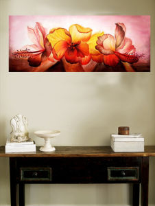 Oil Painting of Decorative Flowers-3 pictures & photos