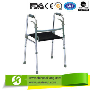 Aluminum Elderly Walker with Nylon Seat Cushion (CE/FDA/ISO) pictures & photos