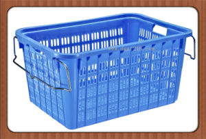 High Quality Large Recyclable Plastic Storage Basket for Sale pictures & photos