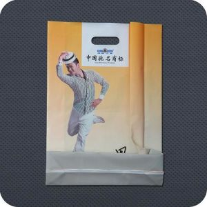 Custom Printed Plastic Die Cut Handle Garment Bag pictures & photos