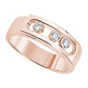 Rose Gold Plating 925 Silver Move Rings Fashion Jewelry pictures & photos