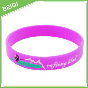 Debossed Colorfilled Custom Silicone Wristband, Custom Colorfilled Silicone Bracelet, |Beiqi Factory pictures & photos
