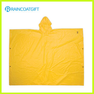 Adult Yellow PVC Rain Poncho Rvc-130 pictures & photos