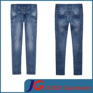 Women High Waist Jean Pencil Trousers (JC1287) pictures & photos