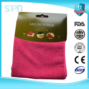 White Red Yellow Blue Microfiber with Paper Board Cleaning Towel pictures & photos