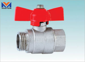 Mini Brass Ball Valve with Butterfly Handle (VT-6203) pictures & photos