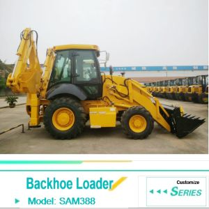 2.5ton Wheel Loader Excavator Sam388 Backhoe Loader