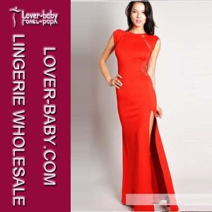 Woman Red Lace Evening Dress (L5087-2) pictures & photos