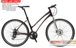 700 C Wheel Alloy Hybrid Bicycle with Shimano 21 Speed (AP-70017) pictures & photos