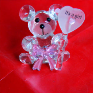 Lovely Crystal Bear for Childrens′ Gift or Home Decoration