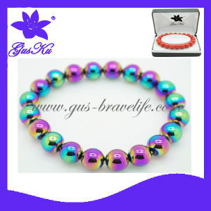 Fashion Jewelry Health Care Magnetic Bead Bracelet (2015 Gus-Htb-002)
