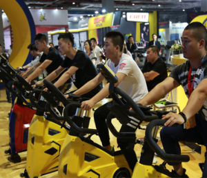 New Arrival Spin Bike Flywheel 20kg/Commercial Fitness Bike Fb-5917 with Yellow Color pictures & photos