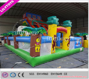 New and High Quality Outdoor Inflatable Trampoline Park with Big Air Blower (Lilytoys-New-037) pictures & photos