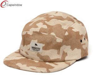 Popular Camo Camping Outdoor Hats with Woven Embroidery on Front pictures & photos