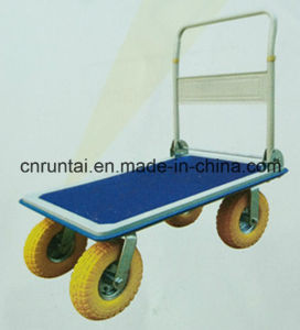 Capacious Heavy Duty Platform Hand Truck with PU Foam Wheel pictures & photos