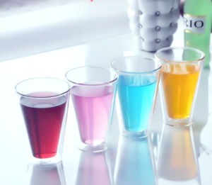 Heat Resistant Double Wall Glass Cup Whisky Cup pictures & photos