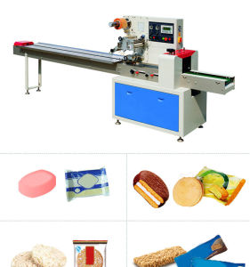 Ce Horizontal Flow Wrapping Machine for Bread Chocolate pictures & photos