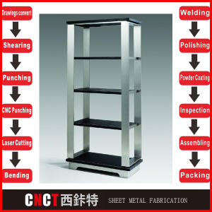 Customized Stainless Steel Metal Stand Shelf for Shop pictures & photos