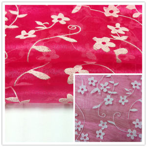 Foam Organza Fabric, Wedding Fabric, Garment Fabric pictures & photos