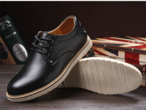 Black Leather Office Dress Safety Shoes for Men pictures & photos