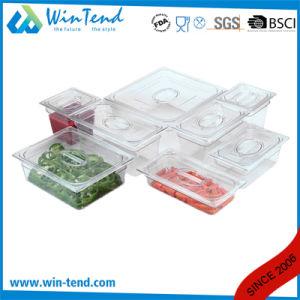 Hot Sale BPA Free Certificate Transparent Plastic Restaurant Kitchen 1/9 Size Gastro Pan pictures & photos