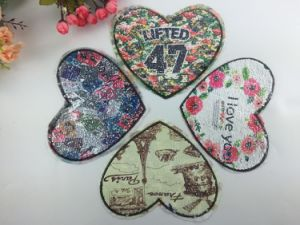 Fashion Design Double Side Patch with Colorful Sequin pictures & photos