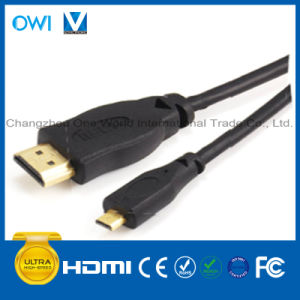 19pin Plug to Micro HDMI Plug Cable for HDTV/4K/3D/Internet pictures & photos