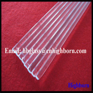 High Purity Clear Fused Silica Quartz Glass Rod Supplier pictures & photos