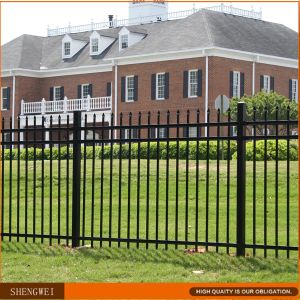 Powder Coated Steel Pipe Fence From Chinese Factory pictures & photos