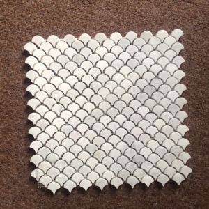 Bianco Carrara White Stone Marble Fan Shape Tile Floor Wall Mosaic pictures & photos