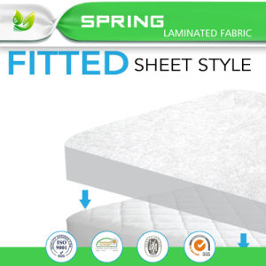 Quilted and Fitted Waterproof Crib Mattress Pad & Cover Made of Silky Smooth Bamboo Fiber Rayon Perfect for Baby and Toddler Use pictures & photos