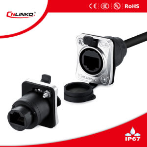 Cnlinko Brand IP65 Cable Connector Modular Jack RJ45 Network Plug and Mount Socket for Signal Transmission pictures & photos