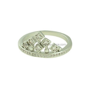 Latest Design Jewelry Crown Shaped Finger CZ Ring (KR3139) pictures & photos