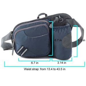 Hiking Waist Bag with Water Bottle Holder Fanny Running Belt Bag pictures & photos