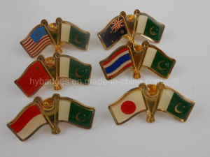 Indian-New Zealand Flag Lapel Pin, National Badge (GZHY-LP-004) pictures & photos