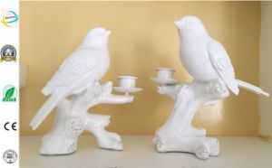 Polyresin Birds with Candle Holder Polyresin Home and Garden Decoration pictures & photos