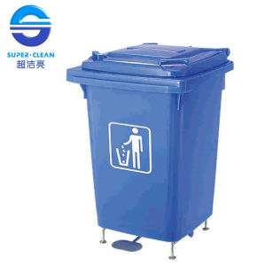 60L Outdoor Foot-Pedal Plastic Garbage Bin (B-001A) pictures & photos