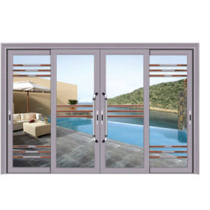 Guangdong Grill Design Glass Sliding Door with Factory Price pictures & photos