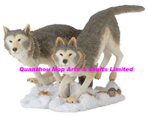 Polyresin Wolf Sculpture of Wolf Crafts pictures & photos