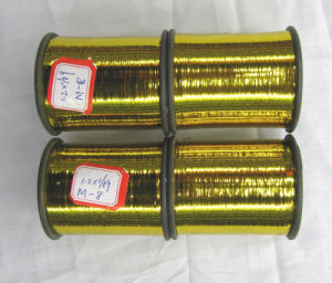 Metallic Yarn or Metallized Flat Yarn, Gold Color (M-Type) (M-08) pictures & photos