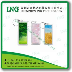 Plexiglass Key Chain Card/Plexiglass Key Tag/Transparent Key Tag