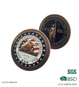 Cut out Zinc Alloy Metal Challenge Coin (SC-021) pictures & photos