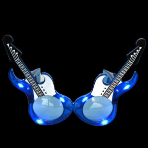 Dance Festival Promotional Gifts Guitarr Shape LED Flashing Fashion Sunglasses (QY-LS100G) pictures & photos