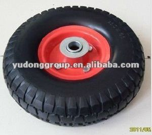 PU Polyurethane Foam Wheel, 260X85 Wheelbarrw Tyre pictures & photos
