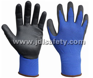 Special Structure Liner Glove of Foam Nitrile Coating (N1575BRF) pictures & photos